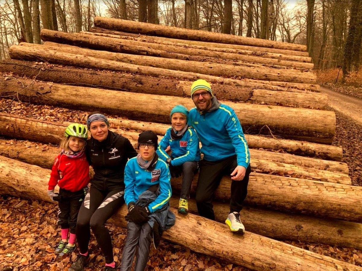 Famile Rothmund nach dem Lauf in Radolfzell